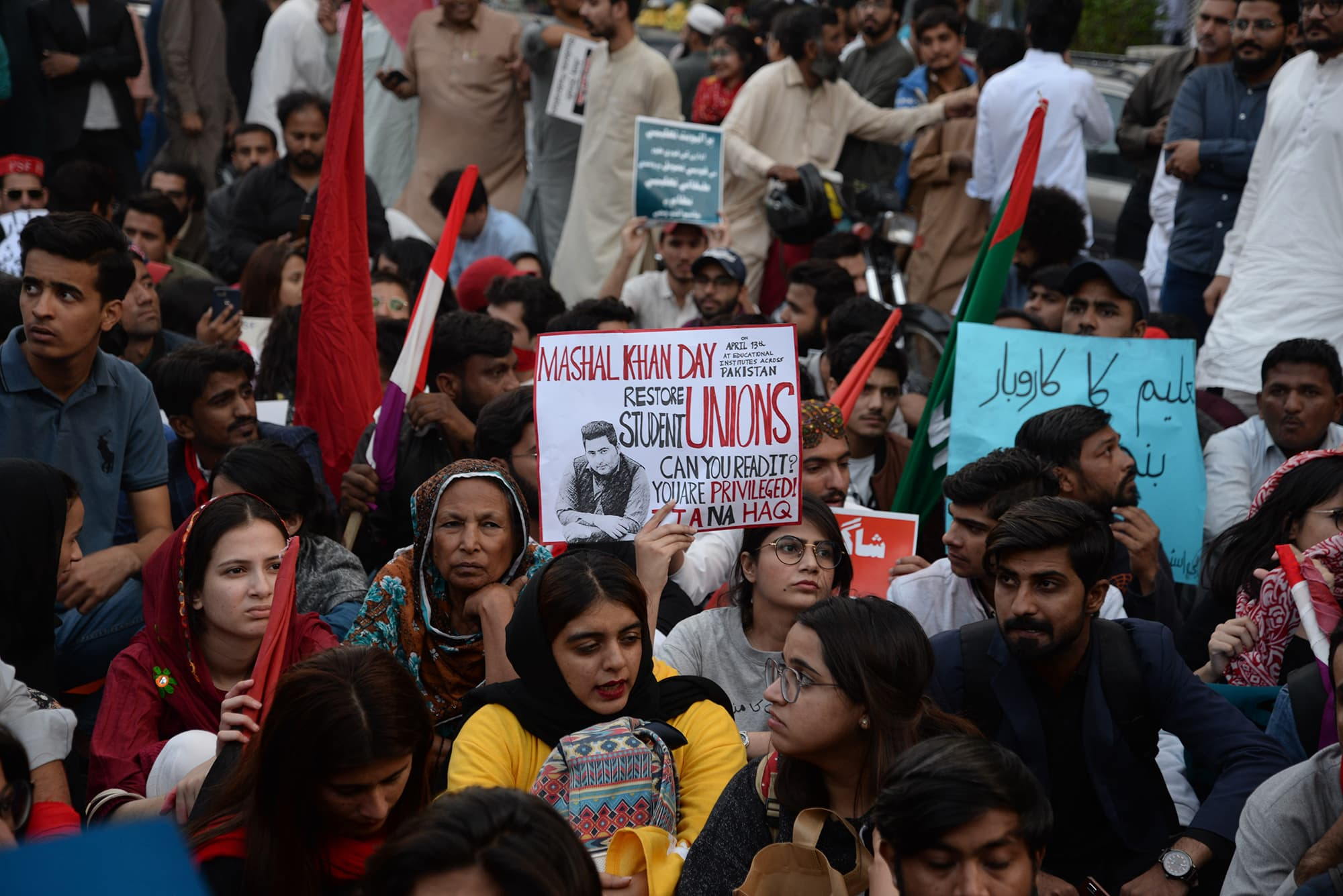 Student Solidarity March in Karachi | Shakil Adil/White Star