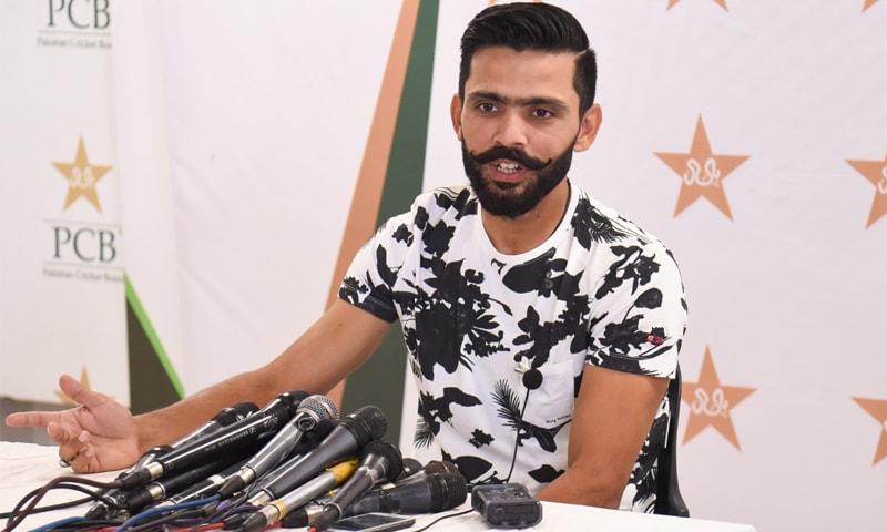 فواد عالم نے کہا کہ ٹیسٹ کرکٹ کیلئے سری لنکن ٹیم کی پاکستان آمد سے دنیا میں اچھا پیغام جائے گا —فوٹو: عمران صدیقی