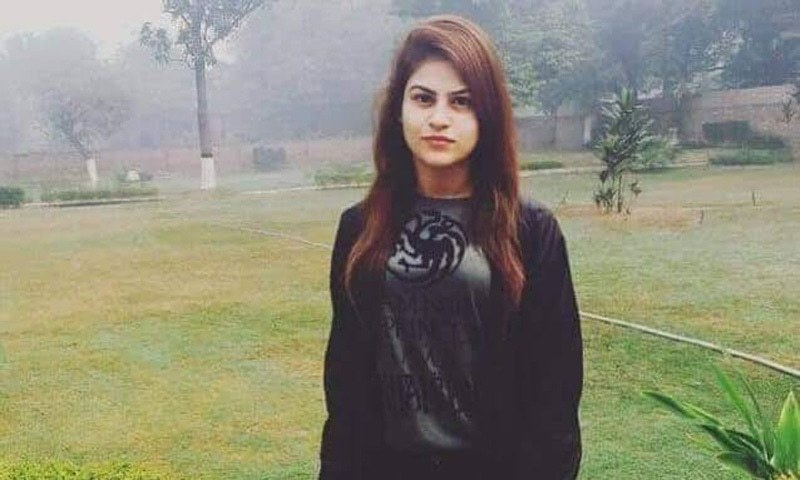 Dua Mangi was kidnapped by four armed men, who first shot her friend Haris Soomro and then escaped in a car in Khayaban-i-Bukhari, DHA, on Nov 30. The girl was freed and reached home safely on early Saturday morning. — Facebook/File