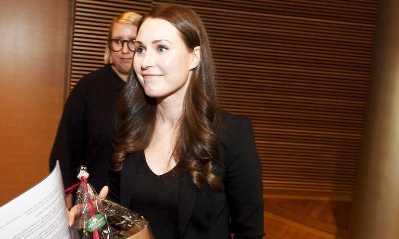 وہ اب تک فن لینڈ کی تیسری خاتون وزیر اعظم ہیں—فوٹو: اے پی