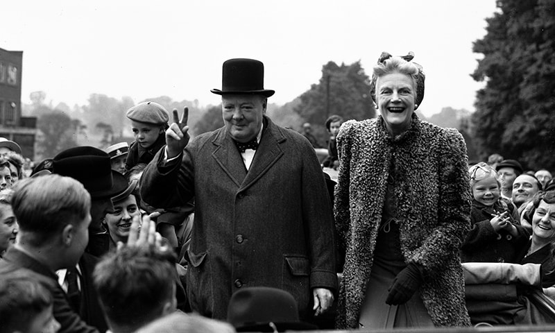 In this May 26, 1945 photo, Britain's Prime Minister Winston Churchill and his wife Clementine tour Churchill's constituency of Woodford, in Essex, England, as part of the Conservative's General Election campaign. — AP