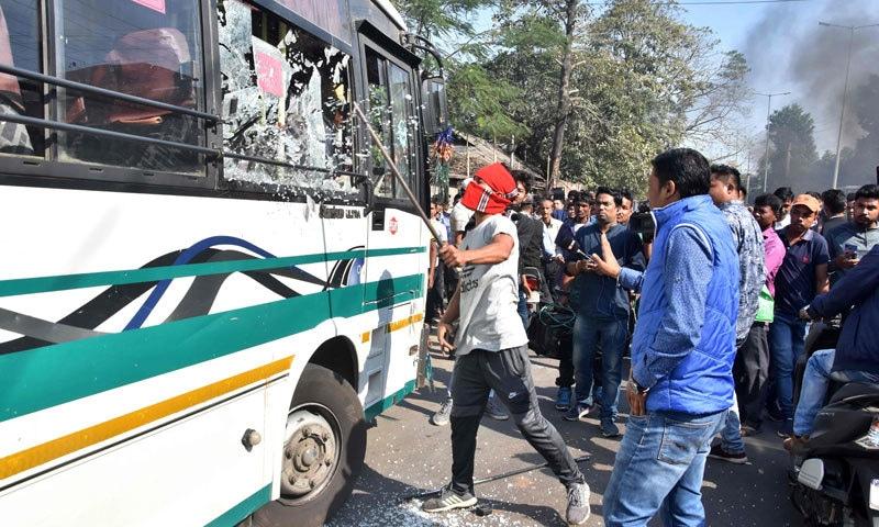 غیر مسلم تارکین کو شہریت دینے کا بل، بھارت میں مظاہرے زور پکڑ گئے