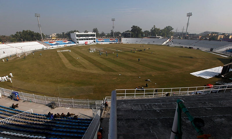 پاکستان اور سری لنکا کے درمیان پہلا ٹیسٹ میچ پنڈی کرکٹ اسٹیڈیم میں بدھ سے کھیلا جائے گا— فوٹو: اے پی