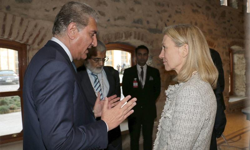 FM Qureshi meets US diplomat Alice Wells.— Photo: FO