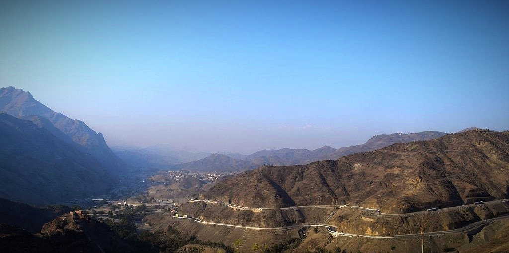 The winding road to Torkham and Jalalabad.