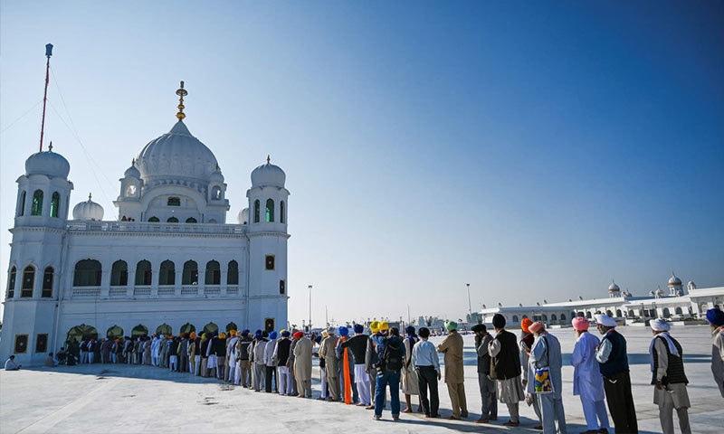 کرتارپور راہداری کا افتتاح بابا گرونانک کے 550 ویں جنم دن کی تقریبات کے موقع پر کیا گیا— فوٹو: اے ایف پی