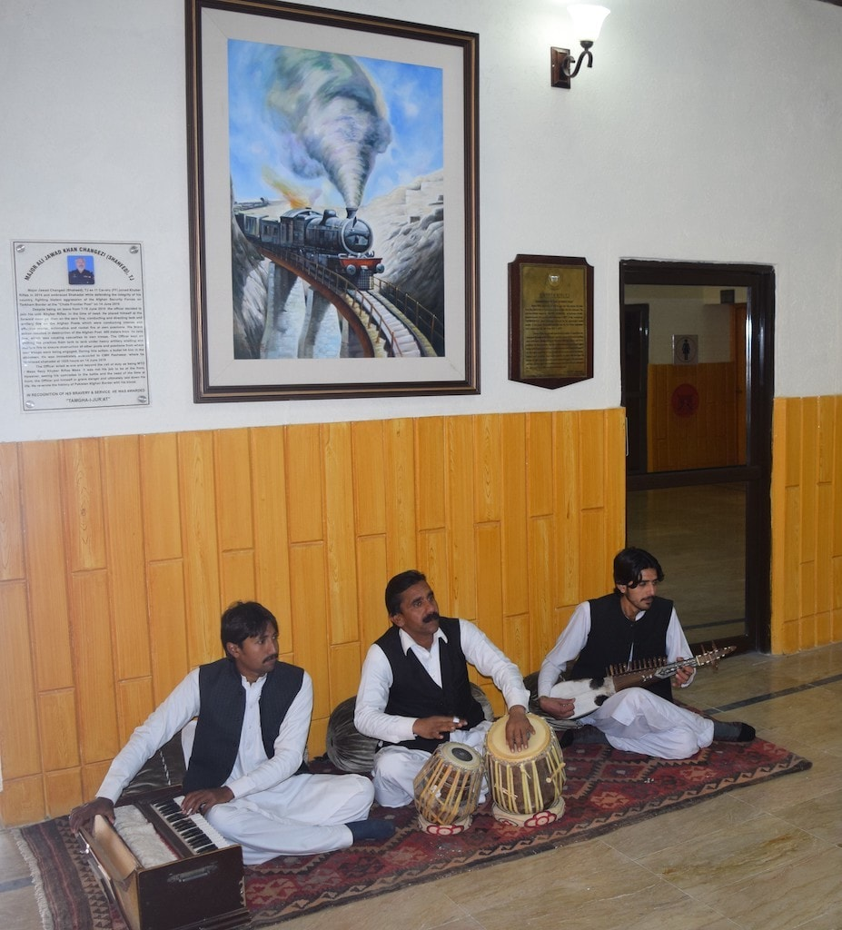Local artisans at Khyber Rifles Mess.