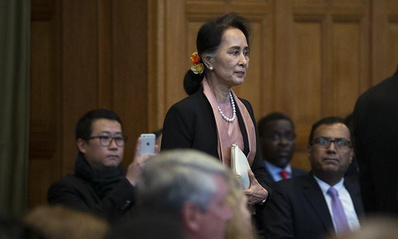 روہنگیا نسل کشی: میانمار کی آنگ سانگ سوچی عالمی عدالت میں پیش