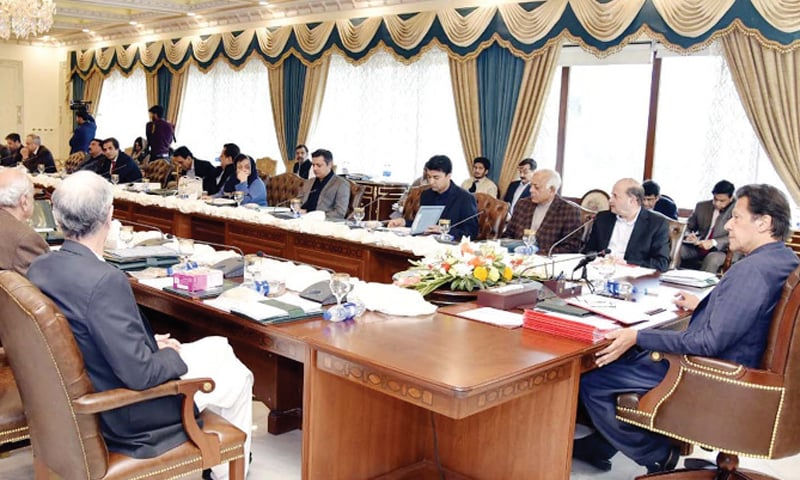 ISLAMABAD: Prime Minister Imran Khan chairs a meeting of the federal cabinet on Tuesday. — PPI