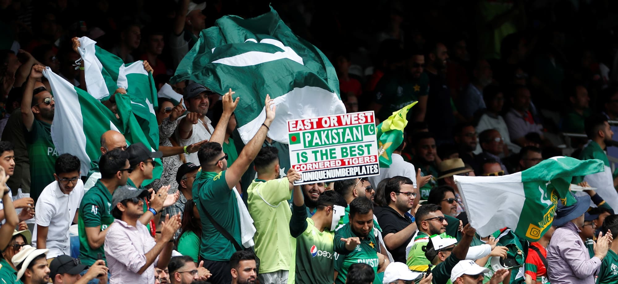 Cricket - ICC Cricket World Cup - Pakistan v Bangladesh - Lord's, London, Britain - July 5, 2019   Pakistan fans during the match   Action Images via Reuters/Paul Childs