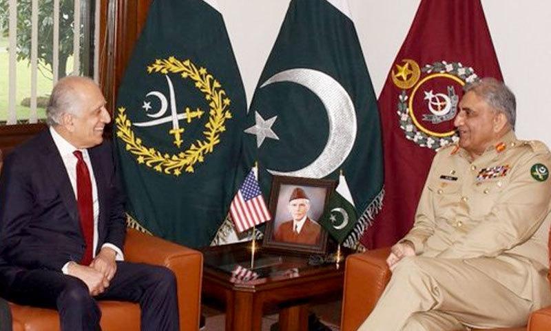 آرمی چیف سے امریکی نمائندہ خصوصی کی ملاقات، افغان امن عمل پر گفتگو