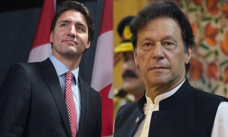 وزیراعظم عمران خان کا کینیڈا کے ہم منصب جسٹن ٹروڈو کو ٹیلی فون