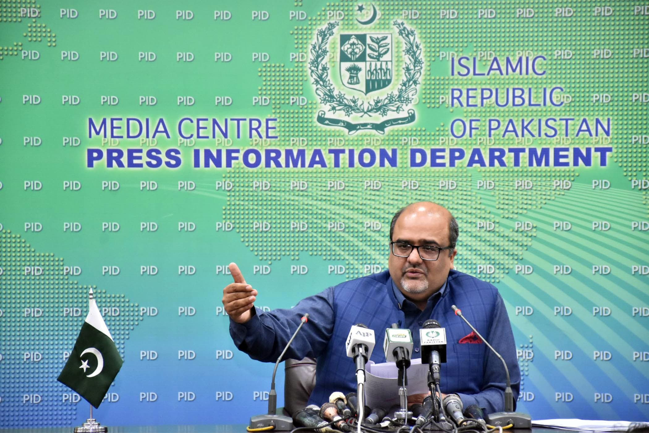 "Special Assistant to the Prime Minister (SAPM) on Accountability Mirza Shahzad Akbar on Friday said no ""criminality"" was committed in the case under which the UK's National Crime Agency (NCA) had frozen nine bank accounts of real estate tycoon Malik Riaz and handed over the money to Pakistan.  — PID/File"