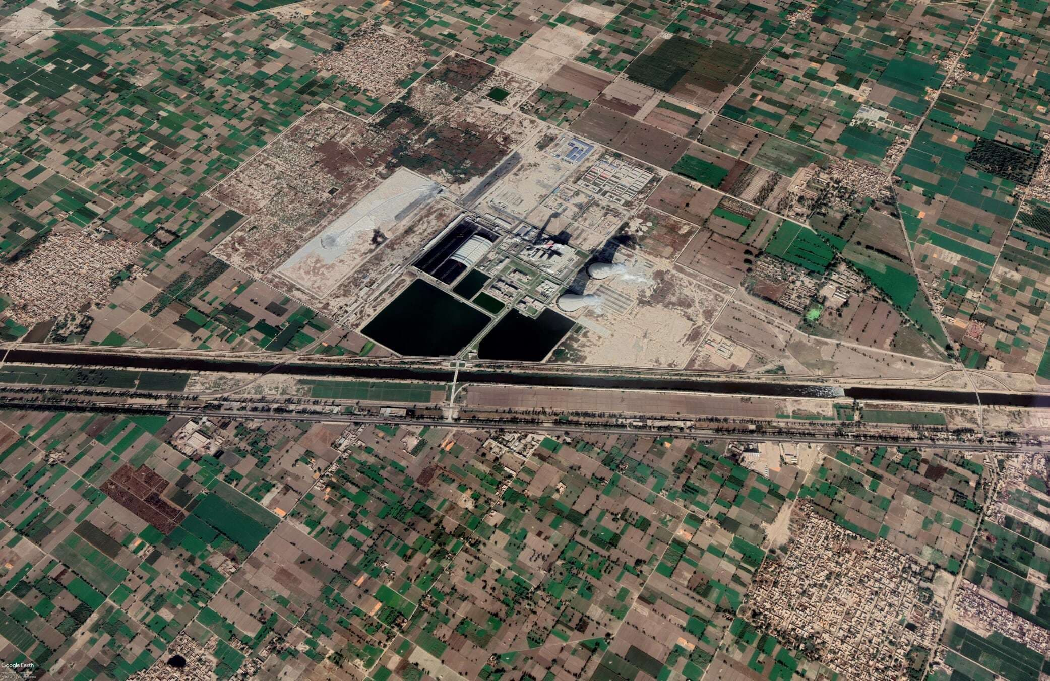 Aerial view of Sahiwal in February 2019
