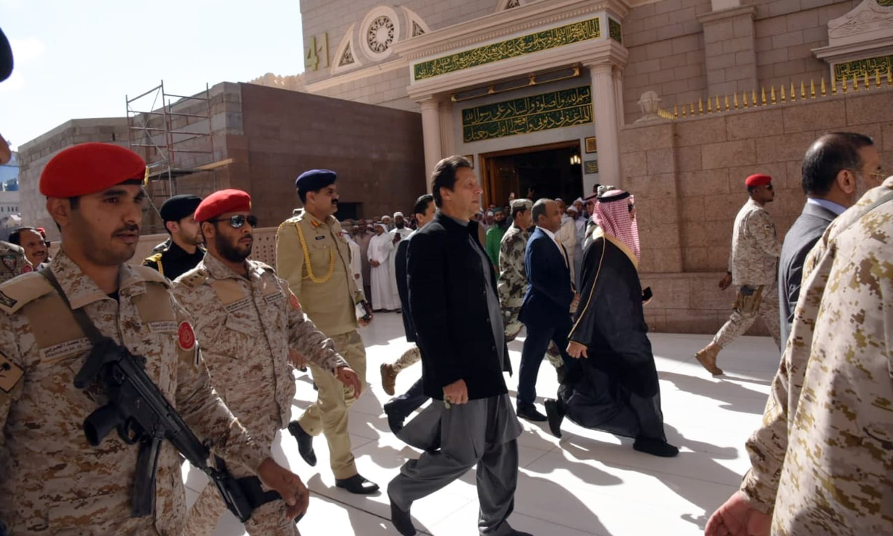 Prime Minister Imran Khan visiting Masjid-i-Nabvi. — PM Office