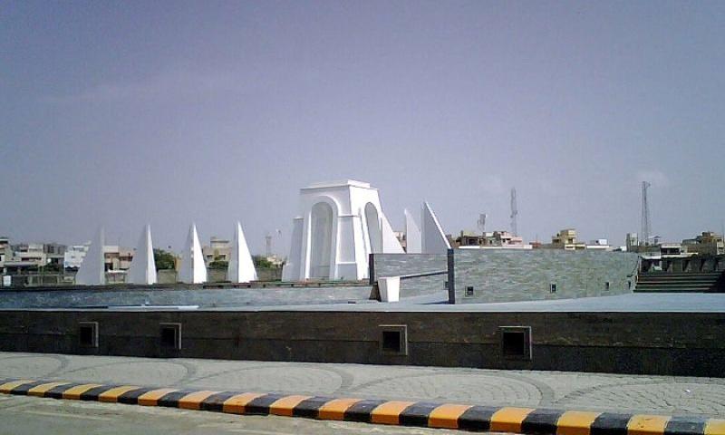 It is not yet clear when exactly the incident happened and who hammered the monument, known as Yadgar-i-Shuhada, or Martyrs' Monument, in a locality where police and Rangers are always vigilant in restricting any gathering of any faction of the MQM. — Photo courtesy Twitter