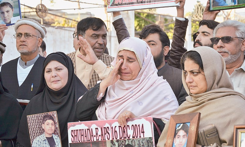 Parents organise rally on eve of fifth anniversary of APS massacre