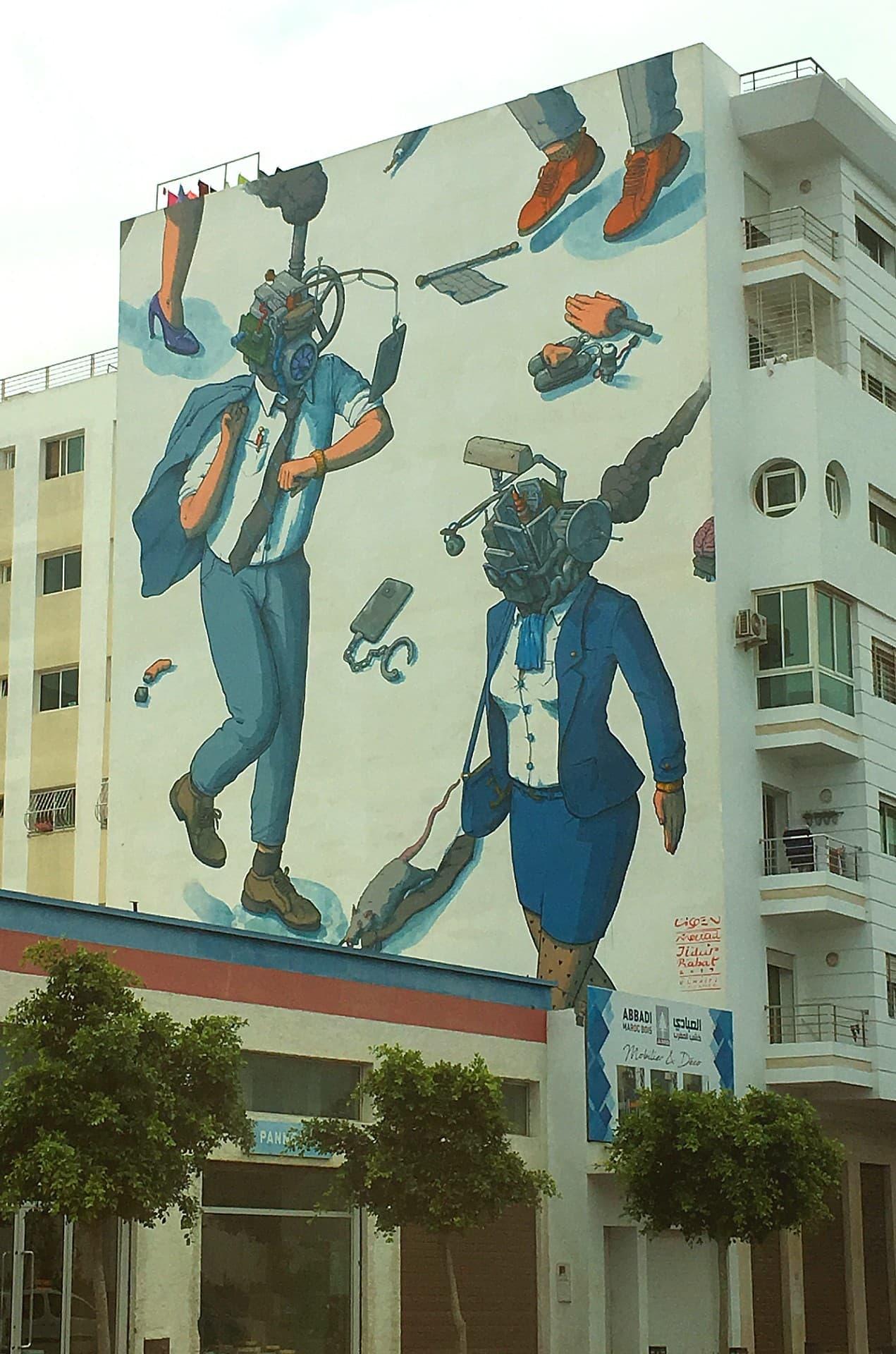 Rabat street art.