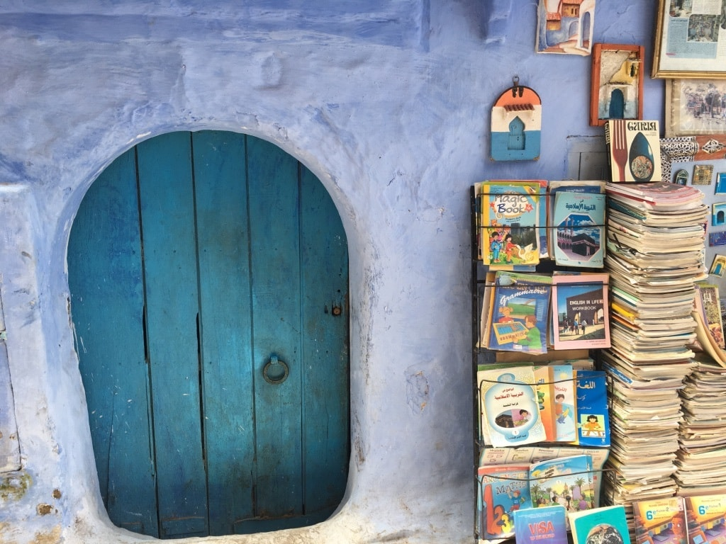 A bookshop in an alley in Shafshawan.