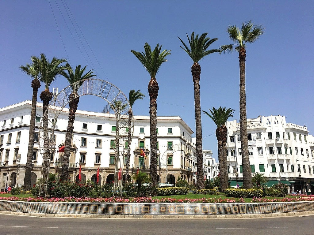A square in Tétouan.