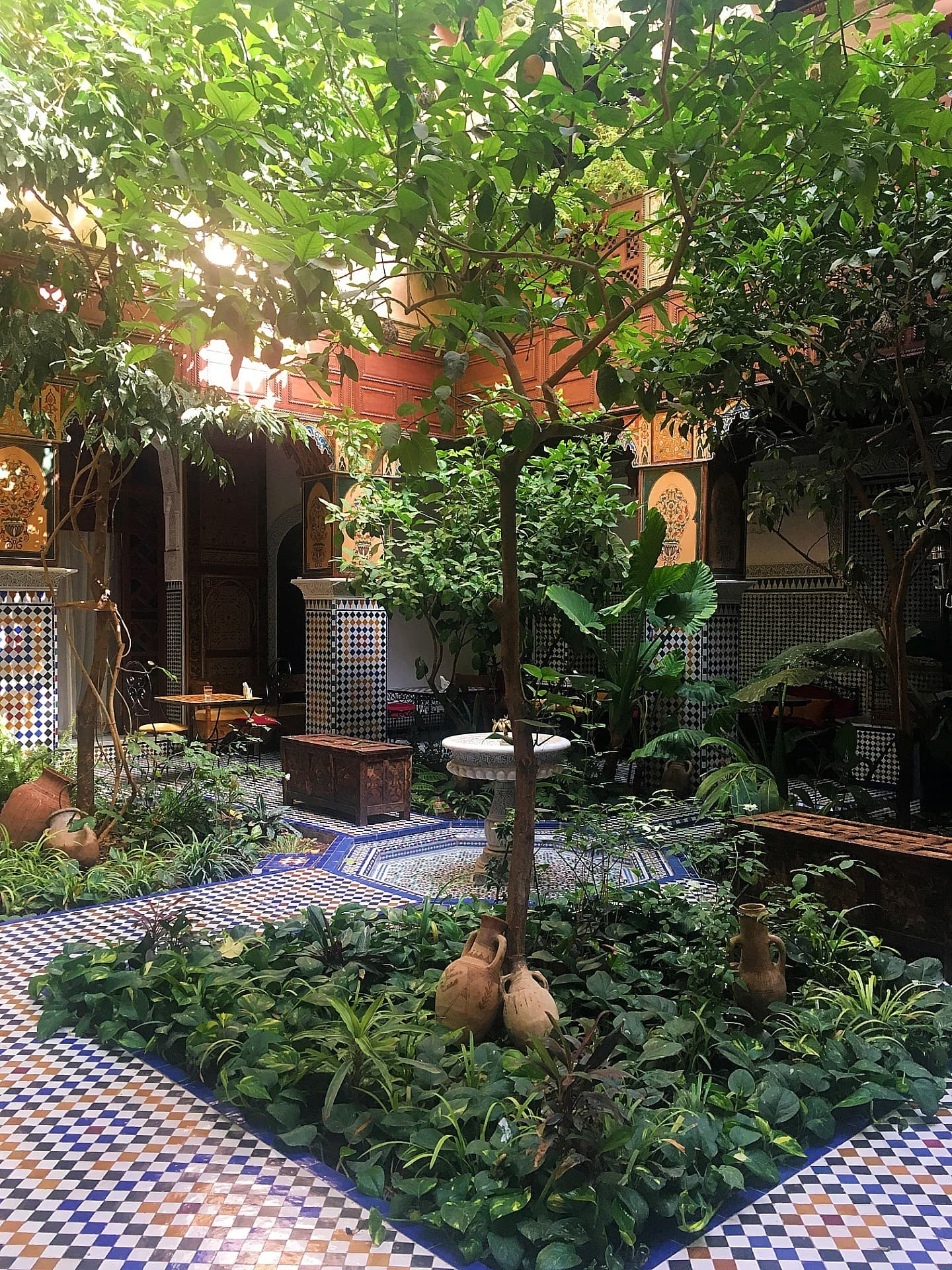 Courtyard of Riad al-Tayyur.