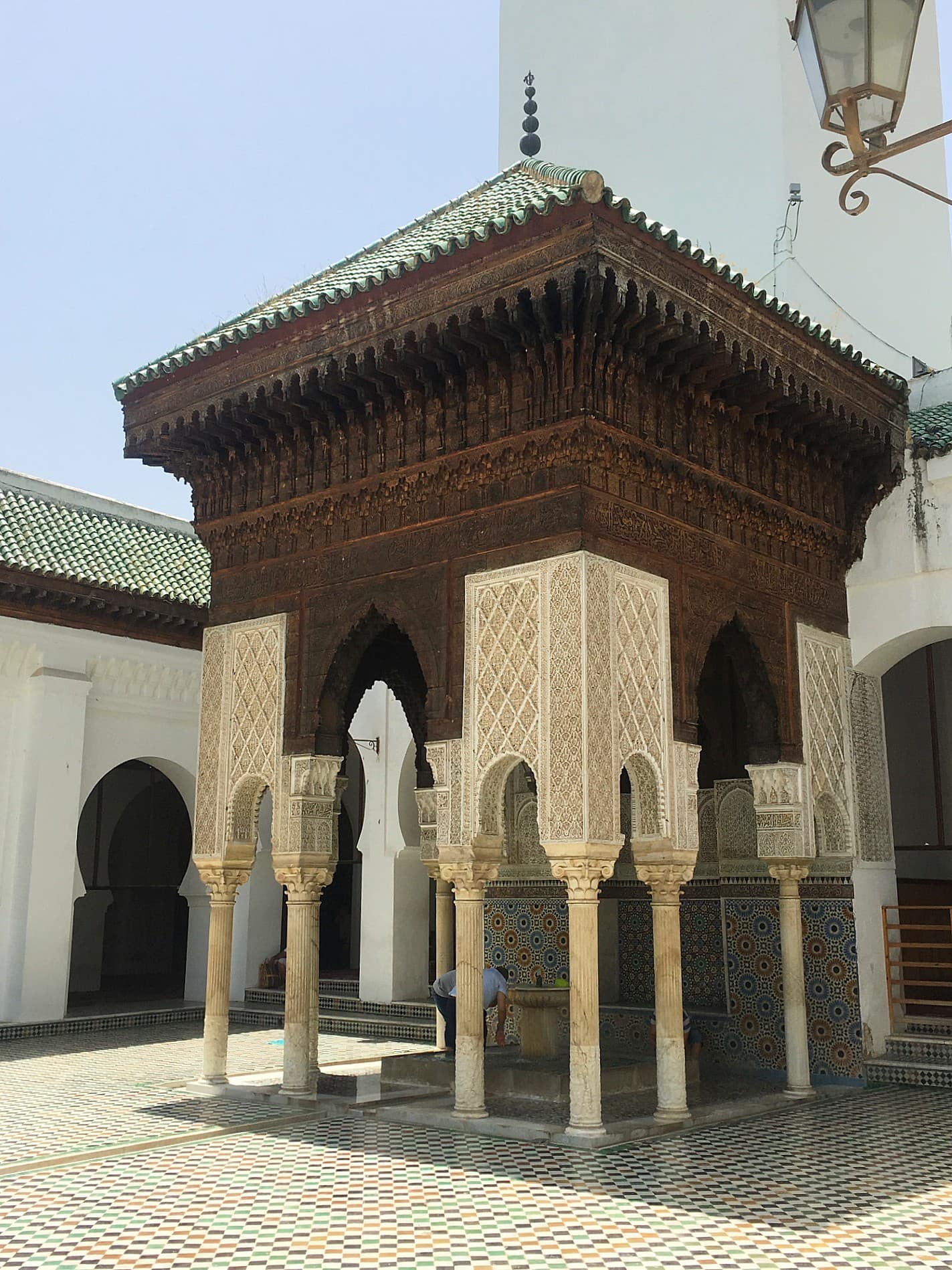 Courtyard of Al-Qarawiyyin.