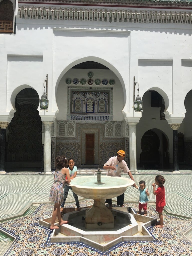 Courtyard Madarsa al-Attarine.