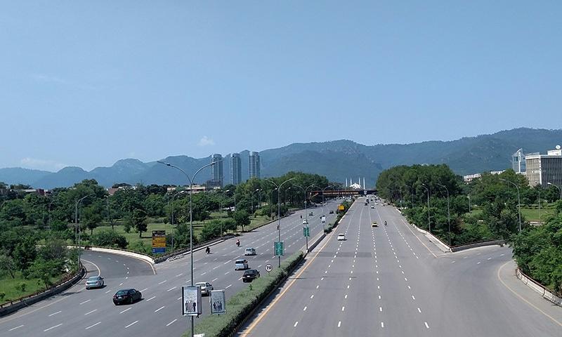 اسلام آباد کا خوبصورت منظر—تصویر لکھاری