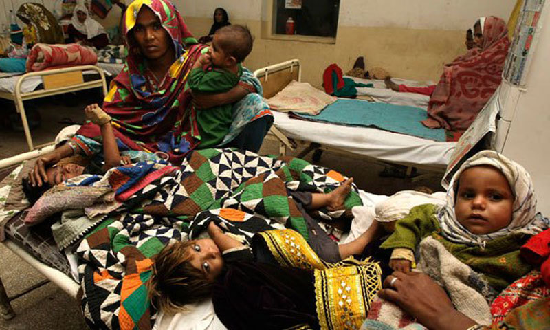 Due to poor nutrition facilities and lack of access to basic healthcare services, the percentage of children under the age of five with diarrhea is 25 per cent in Dera Ghazi Khan and 30 per cent in Layyah district. — Dawn/File