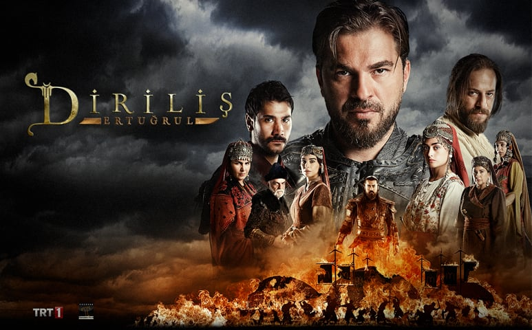 Publicity poster of Dirilis: Ertugrul [Resurrection: Ertugrul], a Turkish dizi which Prime Minister Imran Khan would like all Pakistanis to watch