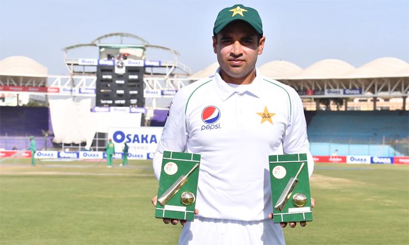 عابد علی کو عمدہ کارکردگی پر میچ اور سیریز کا بہترین کھلاڑی قرار دیا گیا— فوٹو: اے ایف پی