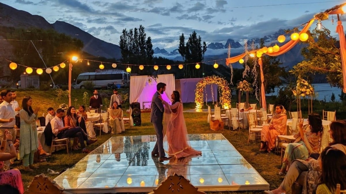 Desi-tination wedding is one that's hosted at a local destination — in the hills, by the lake, in Murree, Nathiagali, Bhurban or even Hunza.