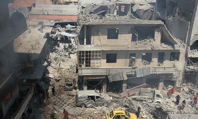 ادلب میں القاعدہ کے 30 ہزار جنگجو اب بھی بڑا خطرہ ہیں اور شام میں عالمی طاقتوں کی کشمکش انہیں مضبوط بنا سکتی ہے۔ فائل فوٹو: اے ایف پی