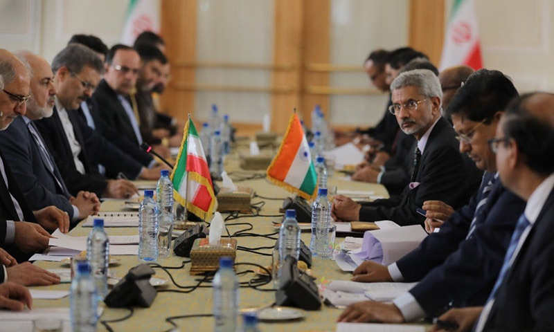 Tehran and Delhi have agreed to accelerate the development of an important Iranian port, India's foreign minister said during a visit to the sanctions-hit Islamic republic on Monday. — Photo courtesy Indian Foreign Minister Subrahmanyam Jaishankar  Twitter
