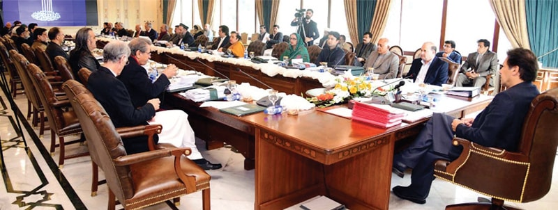 ISLAMABAD: Prime Minister Imran Khan chairs the federal cabinet's meeting.—PPI