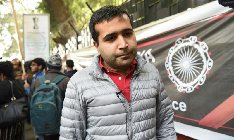 Kersi, a 32-year-old Parsi who works in the tech sector joined the march in New Delhi against India's new citizenship law. — AFP