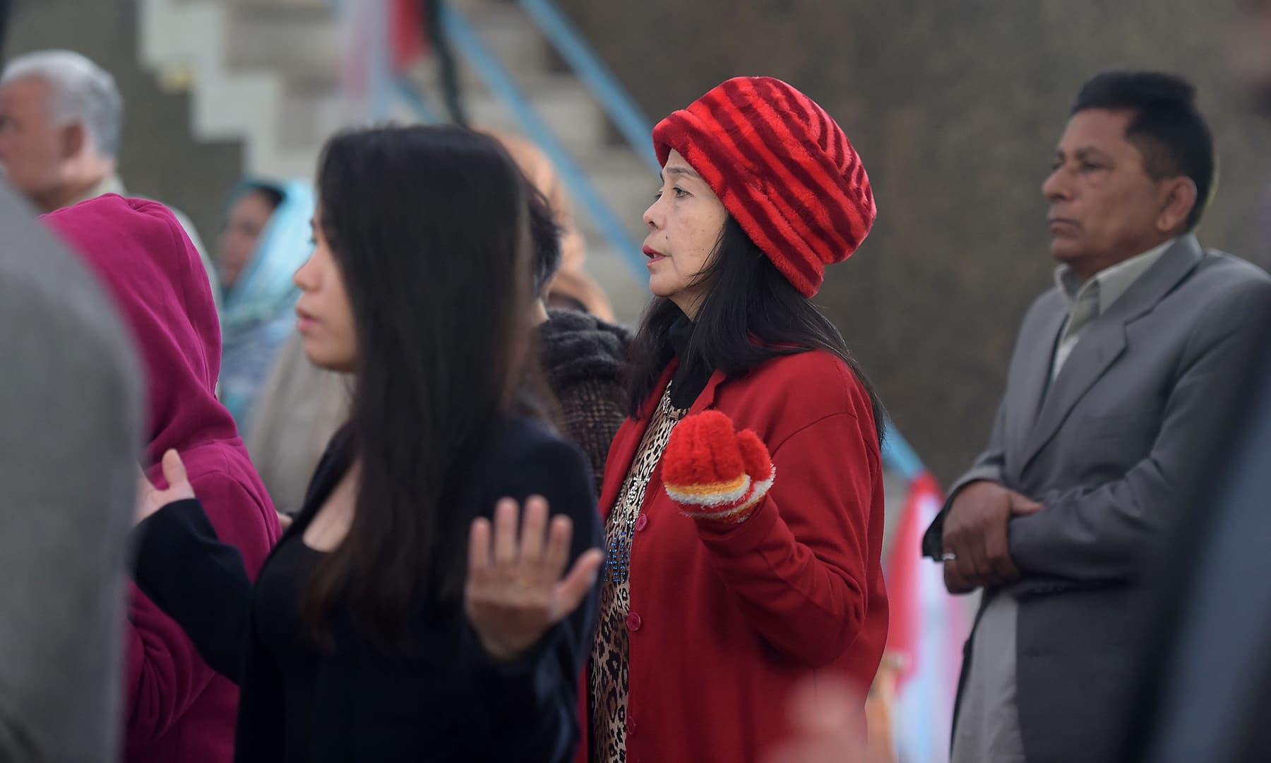 Christian devotees attend Christmas Day prayers at Fatima Church in Islamabad on December 25. — AFP