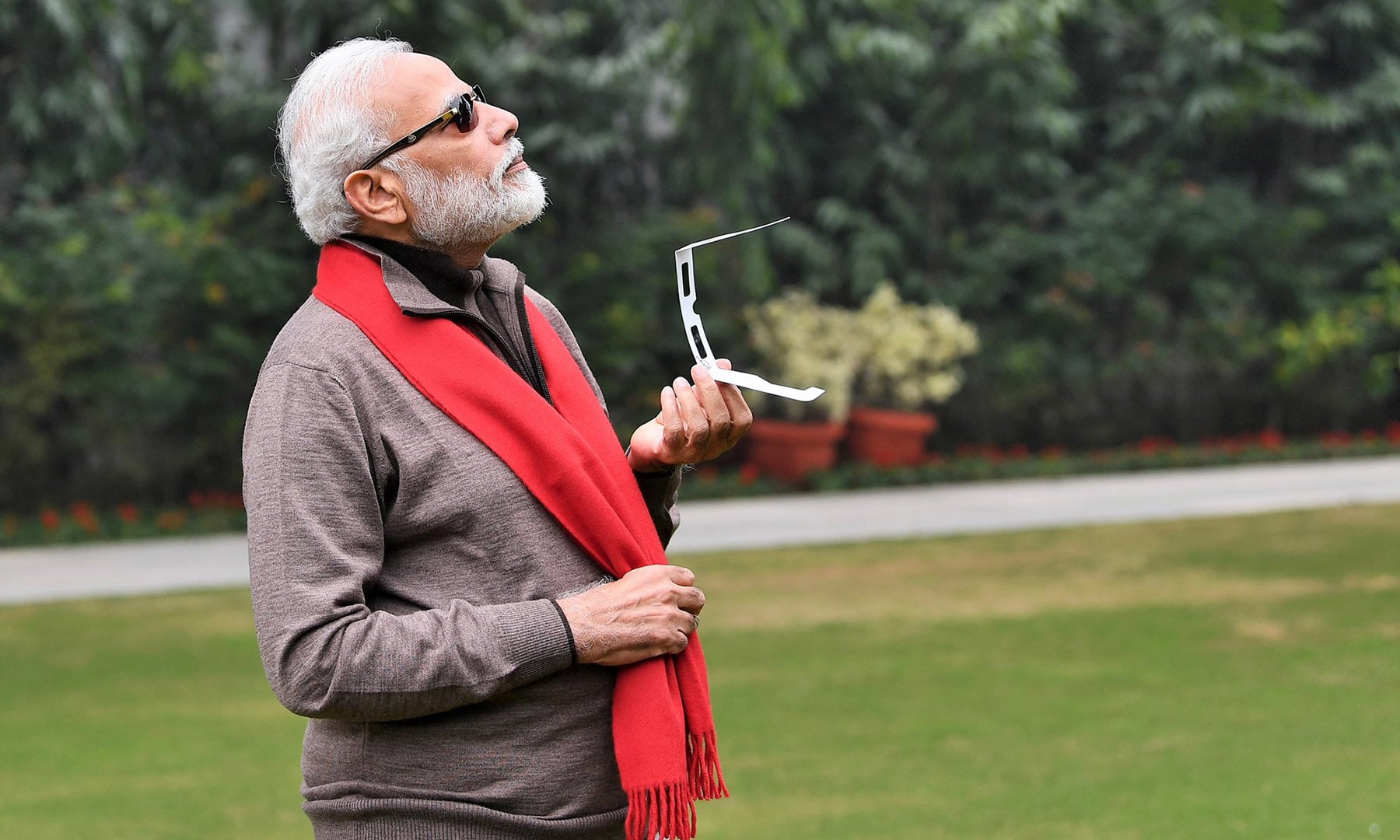Indian Prime Minister Narendra Modi said he was unable to see the Sun due to cloud cover but did catch a glimpse of the eclipse in Kozhikode and other parts on the livestream. In a tweet, he added that he had enriched his knowledge on the subject by interacting with experts. — PM Modi Twitter