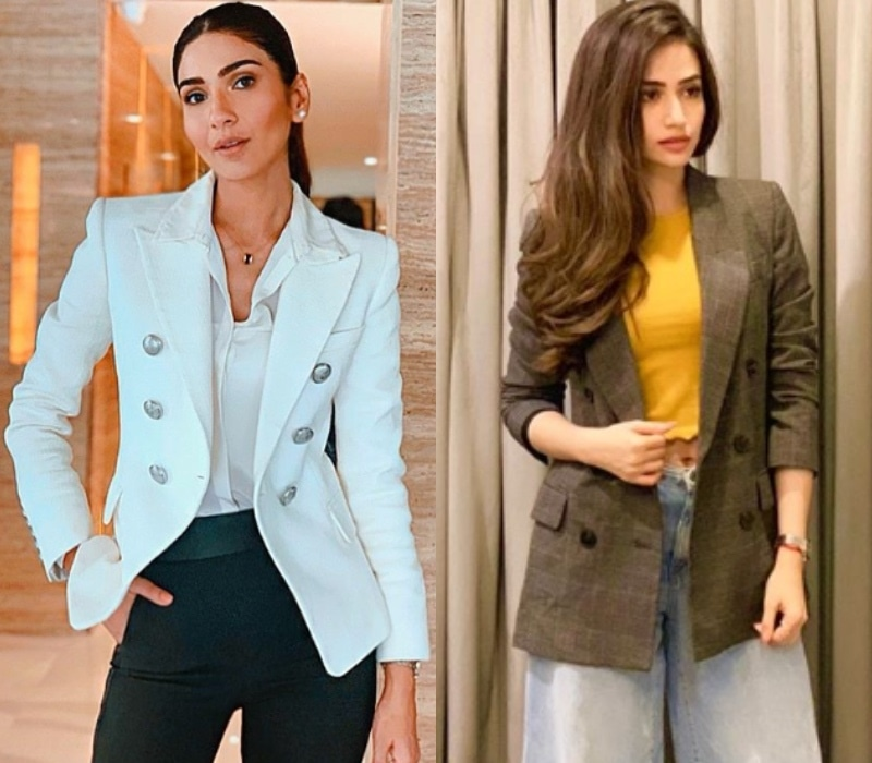 You can pair it with a fancy blouse like Kiran Malik or a crop top like Sana Javed depending on the occasion