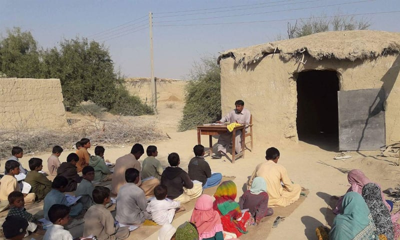 A school in the district of Jhal Magsi in central Balochistan exemplifies the deprivation prevalent in the province | Photo courtesy Balochistan Voices archives