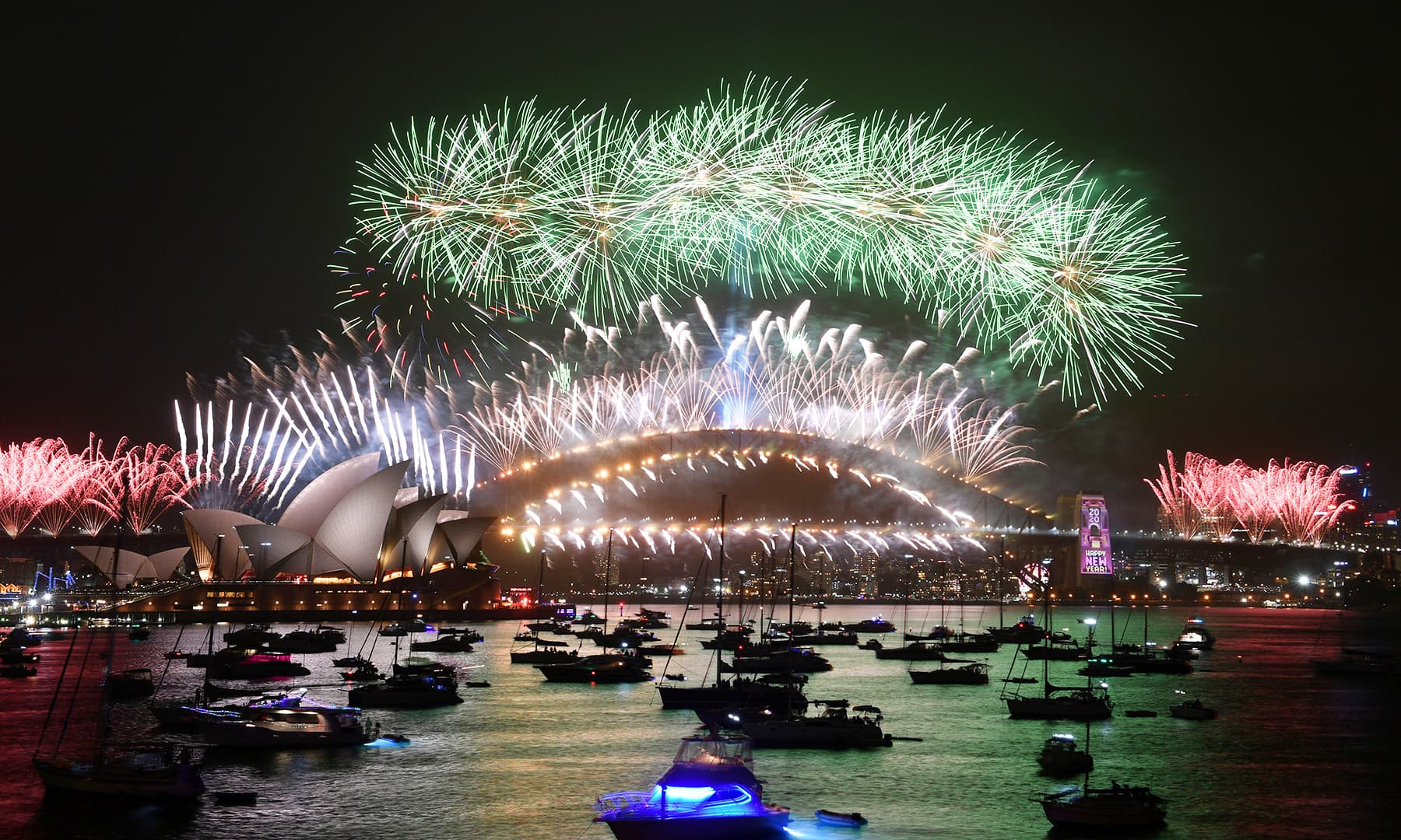 The midnight fireworks are seen from Mrs Macquarie's Chair during New Year's Eve celebrations in Sydney, Australia, January 1, 2020. — Reuters