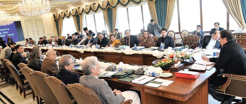 ISLAMABAD: Prime Minister Imran Khan chairs a meeting of the federal cabinet on Tuesday.—PPI