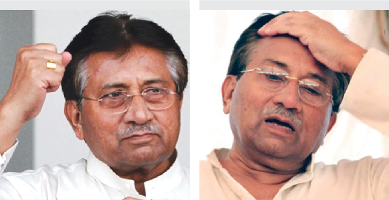 Musharraf was the master of all he surveyed and thumped his way while in power, but has since been made to fight the ghosts from the past.