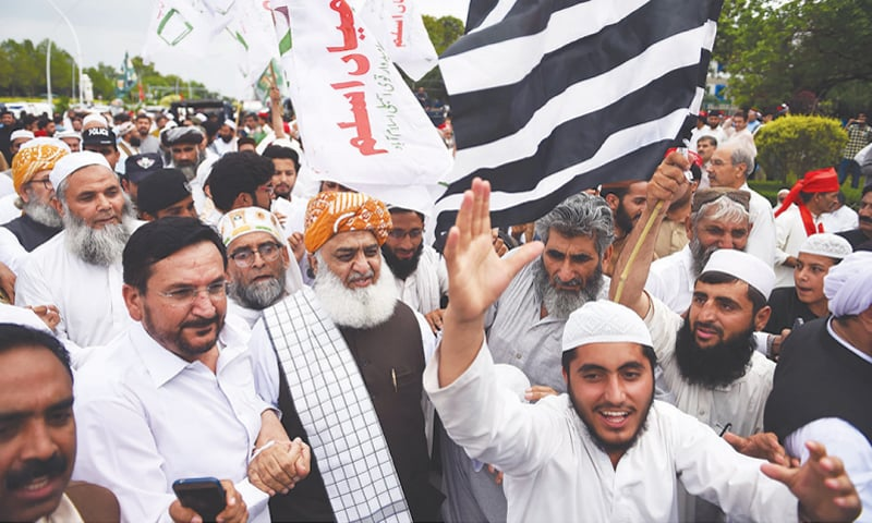 While the opposition remained in disarray through the year, Maulana Fazlur Rehman regained his position on the political scene with his sit-in.