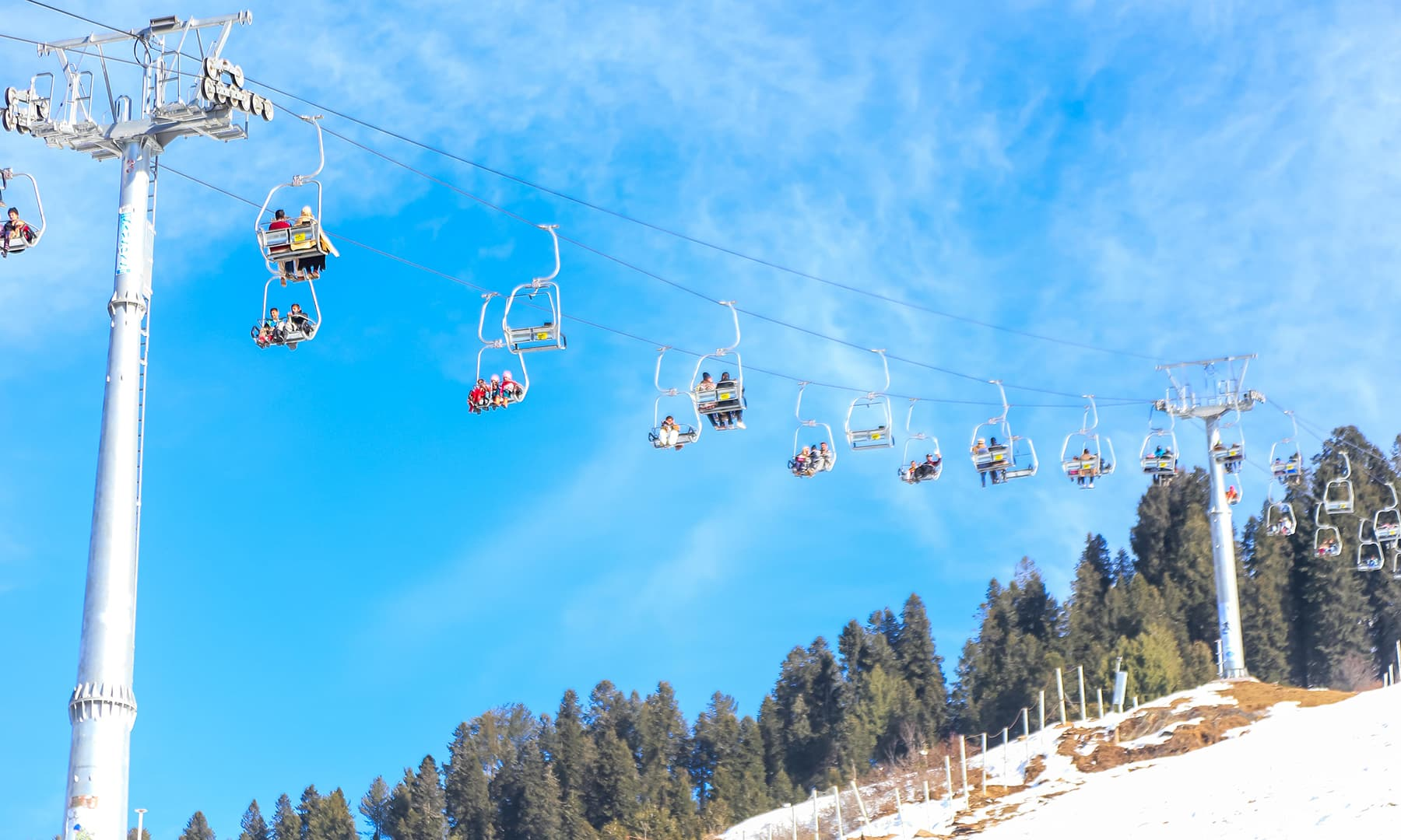 **A view of the Malam Jabba chairlift. — Photo by author**