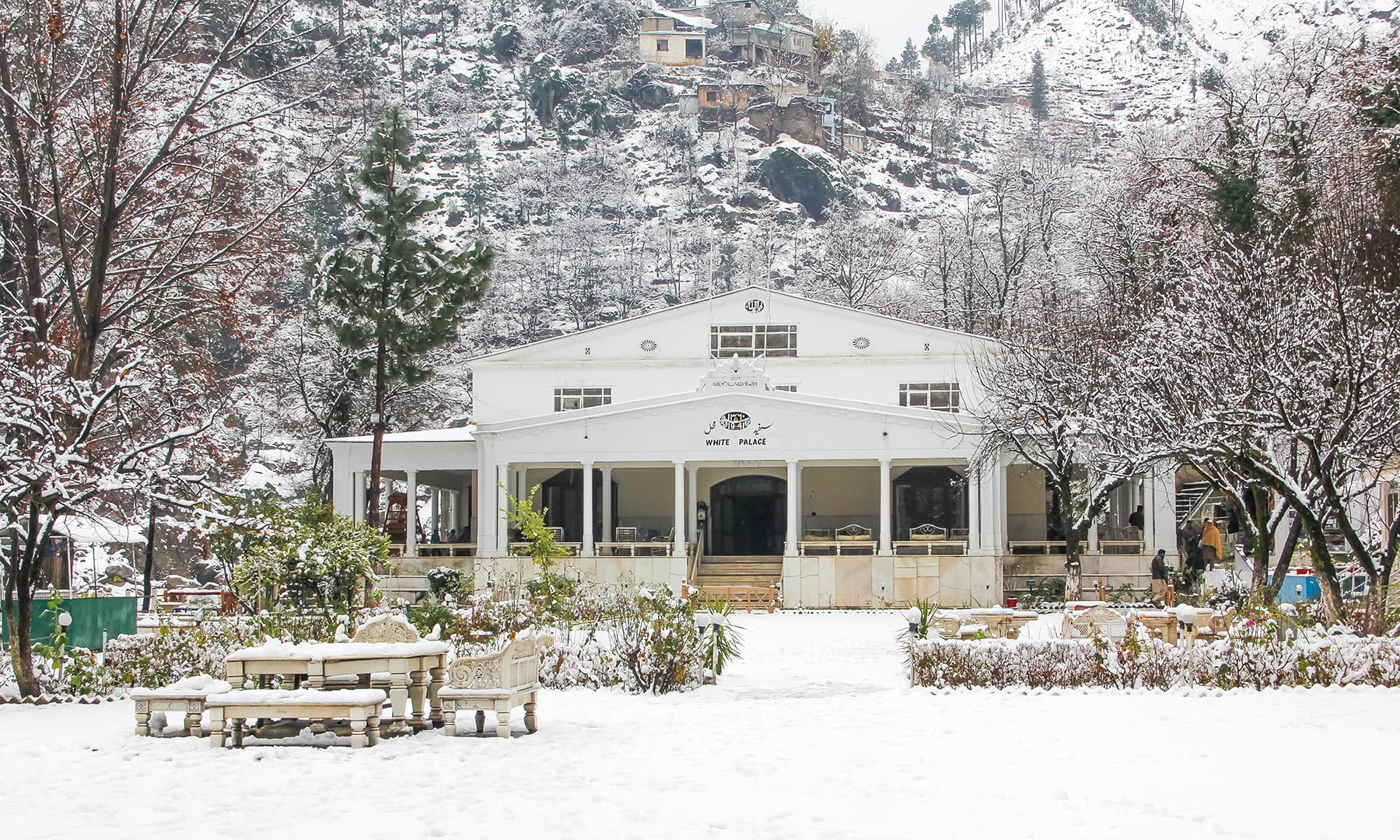 **A majestic view of the White Palace in Marghuzar valley. — Photo by author**