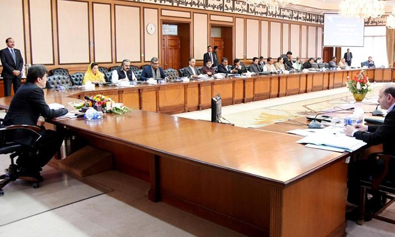 Prime Minister Imran Khan chairs meeting of the Federal Cabinet at PM Office Islamabad on November 12, 2019.