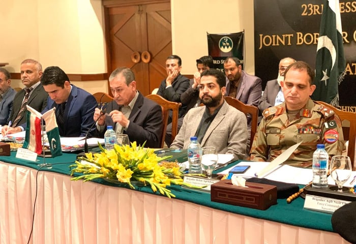 QUETTA: The 23rd meeting of the Pakistan-Iran joint border commission under way on Wednesday.—Dawn