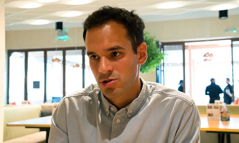 Giacomo Ziani, the co-founder of the app ToTok. — AP
