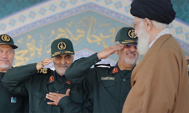 بغداد ایئرپورٹ کے قریب امریکی فضائی کاروائی میں ایرانی پاسداران انقلاب کی قدس فورس کے سربراہ میجر جنرل قاسم سلیمانی ہلاک ہوگئے— تصویر بشکریہ ارنا